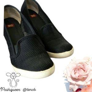 Black BC Footwear Sneaker Wedges for Women
